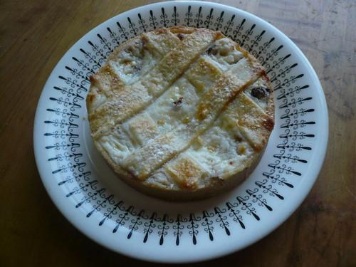 Ricotta and chocolate chip tart