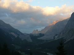 alba sul ghiacciaio (Miage) (MonicaMercedesCosta) Tags: valdaosta iorestoqui diosantoleferieeraquasilora soloseilmiomucciopure