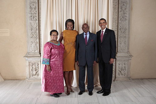 President and First Lady of Senegal with the Obamas