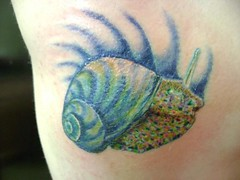 snail  tattoo (tatzbyjustin) Tags: tattoo cool snail tattoos awsome slug tatoos pimp tatoo tat realistic tats tatz