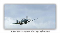 Spitfire (Paul Simpson Photography) Tags: uk plane airplane fighter wwii flight aeroplane lincolnshire merlin spitfire warbird raf roundel