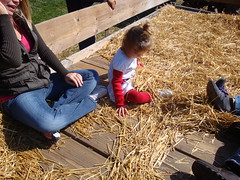 Lilliann Covered In Straw