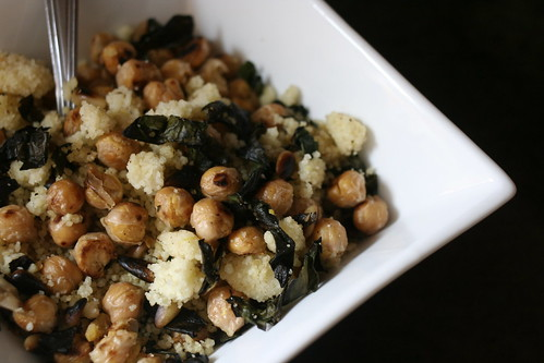 chickpea & swiss chard with couscous