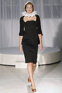 Osman Yousefzada black ruff dress