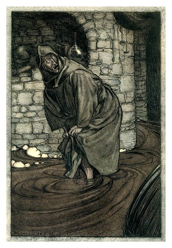 020-El canto de San Dunstan-The Ingoldsby legends 1907-illustrations Rackham Arthur