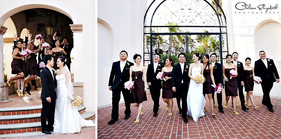The Turnip Rose, Newport Plaza, Costa Mesa, Iron gate bridal party image