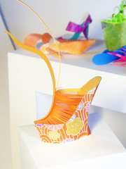 Orange Platform - Paper Art (Carlos N. Molina - Paper Art) Tags: newyork illustration paperart miniatures origami highheels arte puertorico moda zapatos escultura 3dart tacones artshow papel mode artista papercraft fashiondesign calzado puertoricanart fashionillustration shoecollection shoedesign papershoes papersculptures shoeillustration paperartist wwwcarlosnmolinacom carlosnmolina papergenius paperforms shoesdesign 3dshoes uniqueartistexpo artesaniapuertorriqueña highheelillustration paperenginering