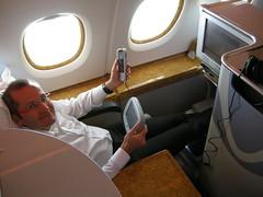 In control (CruisAir) Tags: inflight emirates airbus a380 ek jumbojet onboard businessclass remotecontrols 380 cruisair airboss