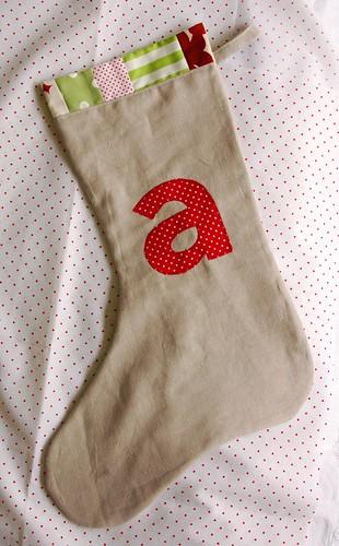 linen stocking