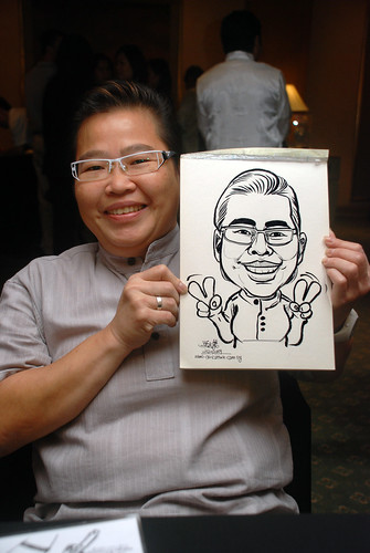 Caricature live sketching for Nera Telecommunications Ltd - 2
