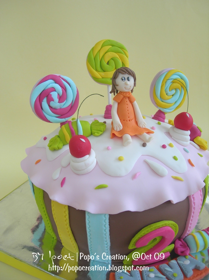 Candy on Big Cupcake for Nava