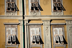 Shutters (Chris Bertram) Tags: windows italy yellow nikon shutters grandcanal trieste adriatic d90