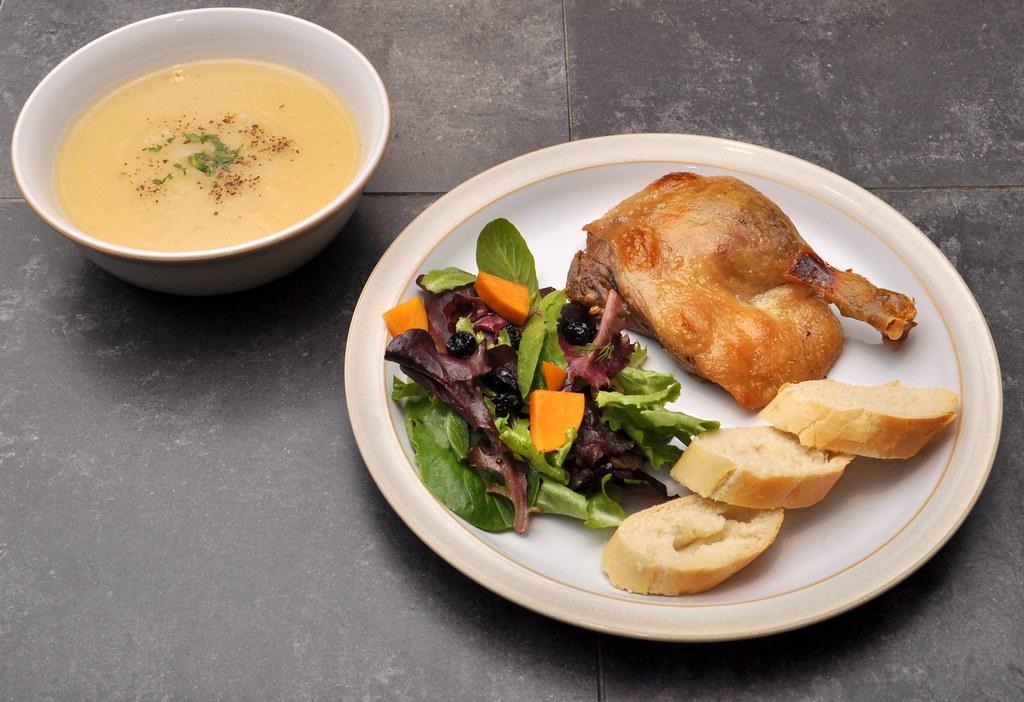 Duck Confit & Jerusalem Artichoke Soup