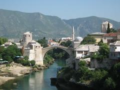 Mostar old town (tom_2014) Tags: bridge europe mostar bosnia medieval balkans oldtown sights yugoslavia bosniahertzegovia hertzegovia