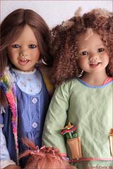 Happy girls (MiriamBJDolls) Tags: 2004 doll vinyl afroamerican linn limitededition 2007 happygirls toki annettehimstedt himstedtkinder summerkinder