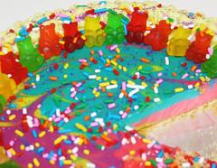 The Way I Make Key Lime Pie (wisely-chosen) Tags: rainbow october gummibears sprinkles swirls 2009 picnik keylimepie creamcheesefrosting adobephotoshopcs4