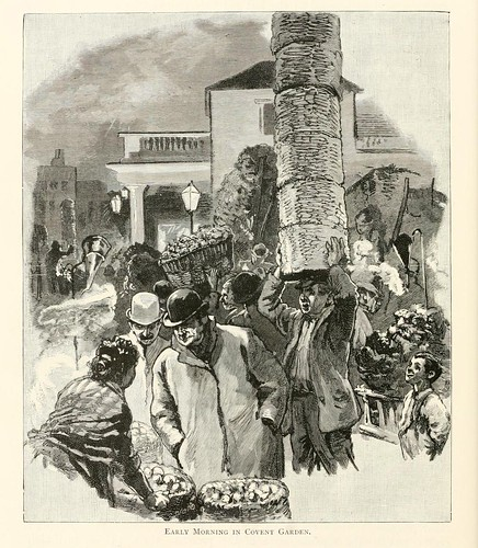 020-A primeras horas de la mañana en Convent Garden- London pictures drawn with pen and pencil 1890-Richard Lovett
