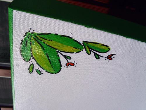 leafy corner detail