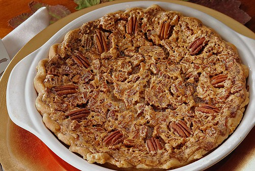 Browned Butter Pecan Pie, uncut pie