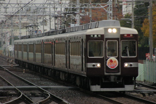 Hankyu6300series in Shojaku,Suita,Osaka,Japan 2009/11/22