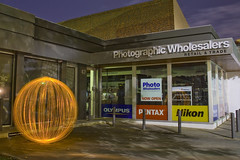 Ball of Light - Photographic Wholesalers (biskitboy) Tags: road camera longexposure light orange lightpainting color colour slr art colors night canon ball dark landscape eos lights mirror globe colorful long exposure colours photographer bright orb balls australia led sphere nz round learning paintingwithlight adelaide 5d nightshots sa colourful orbs footpath southaustralia 18200 learner brightcolours lightart balloflight canonslr lightball lightwand fromnewzealand eos450d 450d canon18200 canoneos450d denissmith huttst photographicwholesalers adelaidenight biskitball spherelightpainting colourbrightcolors