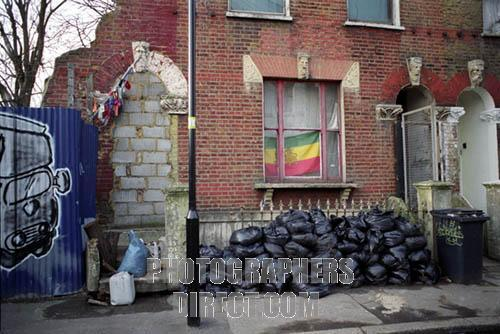 Squatted house in St Agnes place in Kennington South London ...