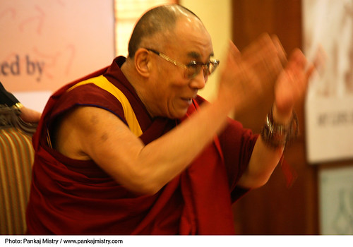 His Holiness the XIV Dalai Lama addressing the participants