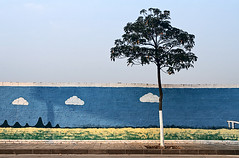-Three clouds (jdleung) Tags: cloud wall painting bluesky doodle   foshan