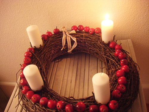 Adventskranz — 1. Advent 2009