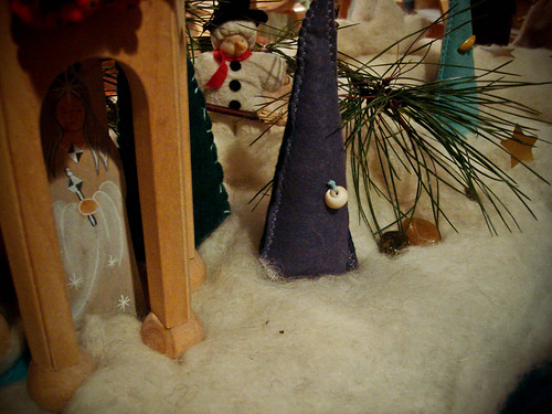 a winter scene in Greenwood's first grade (with Eden's trees!)