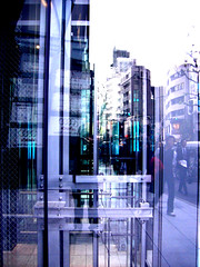 Refrection2 (youfuji) Tags: street urban japan photoshop tokyo town shibuya casio   retouch  exz500