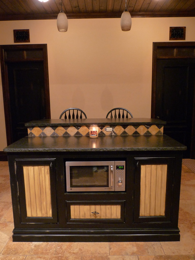 Kitchen Island & Dining Bar for Two