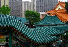 Wong Tai Sin Temple (Py All) Tags: china roof orange building green temple hongkong shrine asia vert hong kong asie   kowloon toit wongtaisin chine immeuble   wongtaishin