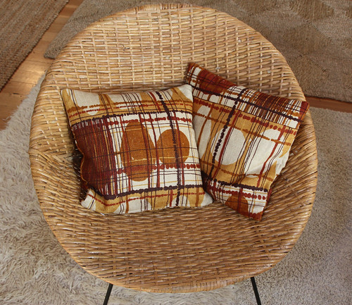 Pillows from vintage textiles by Ouno Design