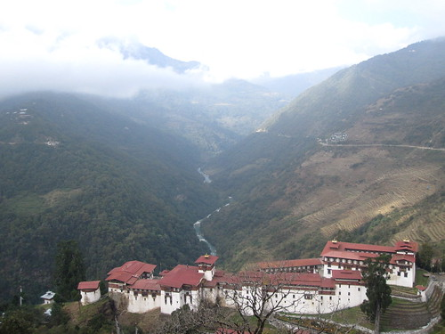 the Dzong from above