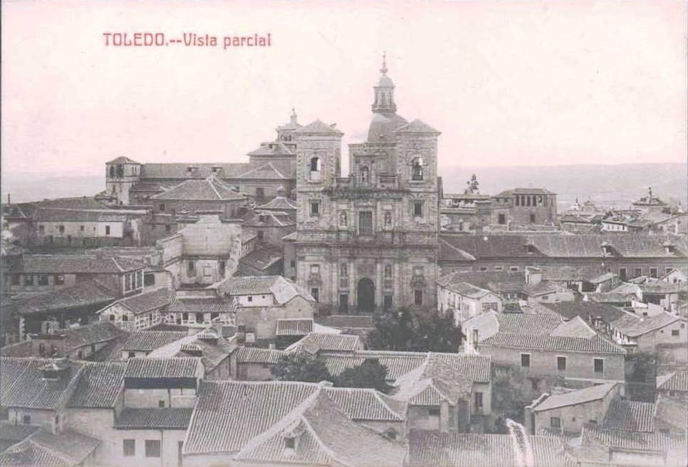 Iglesia de San Ildefonso y Plaza del Padre Juan de Mariana de Toledo a comienzos del siglo XX