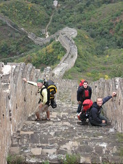 the long descent (mishenhe) Tags: china old camping original autumn shadow camp sky sun sunlight mountain mountains brick tower fall stone wall climb countryside ancient long view hiking path stones debris bricks hill great towers steps chinese beijing descent brush hike hills climbing vista greatwall bushes turret slippery turrets rubble huanghua steep ascent parapet unrestored 500years
