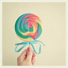 (_cassia_) Tags: pink blue orange green yellow circle rainbow hand candy sweet turquoise stripes multicoloured round swirl ribbon lollipop nailvarnish lolasroom