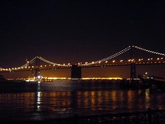 Bay Bridge at night by MoToMo, on Flickr