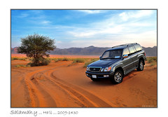 ! ..    } .. My Lexus LX470 .. (Salamah.y) Tags: car hail night truck landscape nikon nissan desert kingdom safari saudi arabia toyota land saudiarabia gs cruiser patrol  ksa sewell vtc  salamah                         sigma1770mmf2845dcmacro           nikond300         salamahy lexuslx470