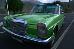 Retro Mercedes-Benz (Mika Marttila) Tags: travel green car mercedesbenz tenerife adeje