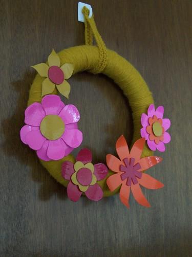 faux vintage enamel brooch wreath