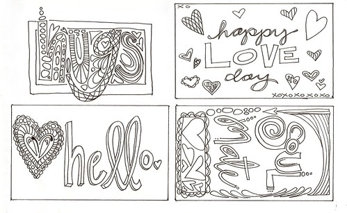 hello.color your own valentines