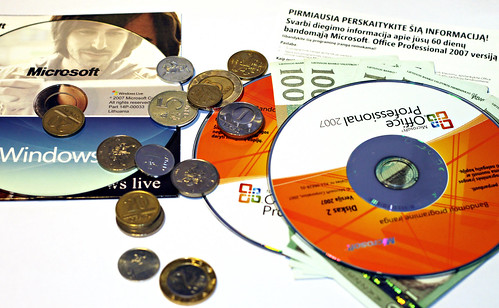 Microsoft CDs and Money