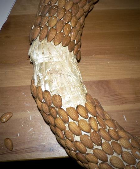 almond wreath super glue project