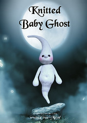 Knitted Baby Ghost (Crea-Me) Tags: baby me toy knitting doll pattern patterns ghost knit knitted amigurumi crea creame wwwcreamenl
