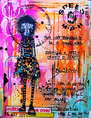 Art Journal - Bad Week (thekathrynwheel) Tags: art collage diary rubberstamping artjournal journaling stampotique dylusions