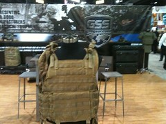 GSS booth. Archangel load bearing vest.