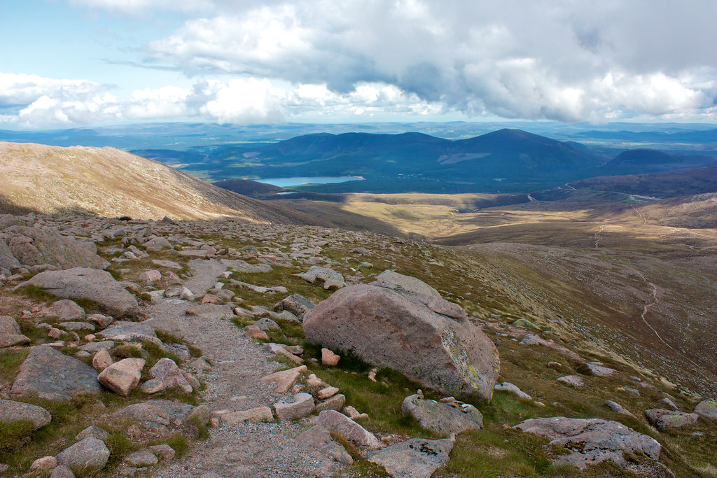 Loch Morlich from the descent path