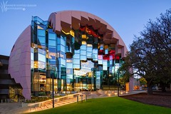 _MG_0862_Flickr (Andrewhg photo) Tags: architecture modern clean impact imposing eduaction educational design architect melbourne australia australian victoria colour colourful glass steel metal material materials building construction unique sky skyscape clouds early morning dawn geelong library hospital university future futuristic line shape open space light canon dslr tiltshift lens tripod photography photograph photo andrew huntergraham